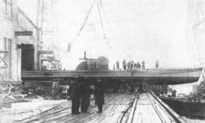 Спуск на воду морского бронекатера