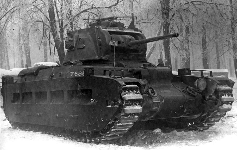 Матильда II на испытаниях в СССР