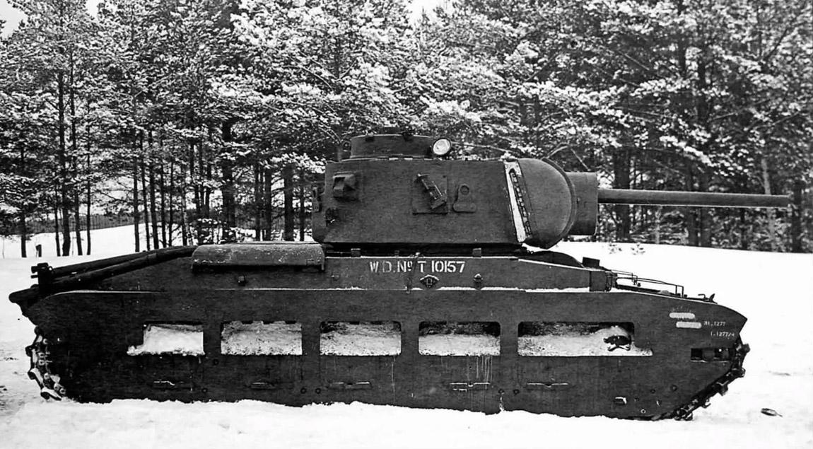 Танк Матильда II с пушкой Ф-34