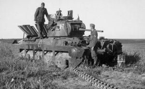 Подбитая советская Матильда II