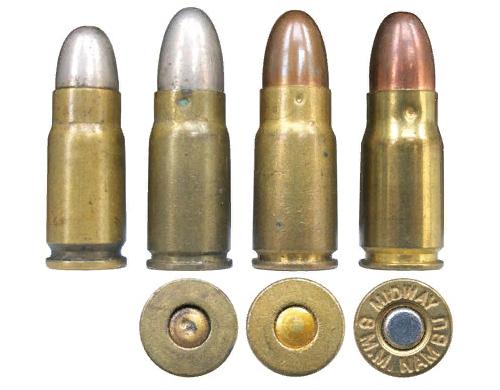 Патрон Люгер (слева) и Патрон 8х22 мм Намбу