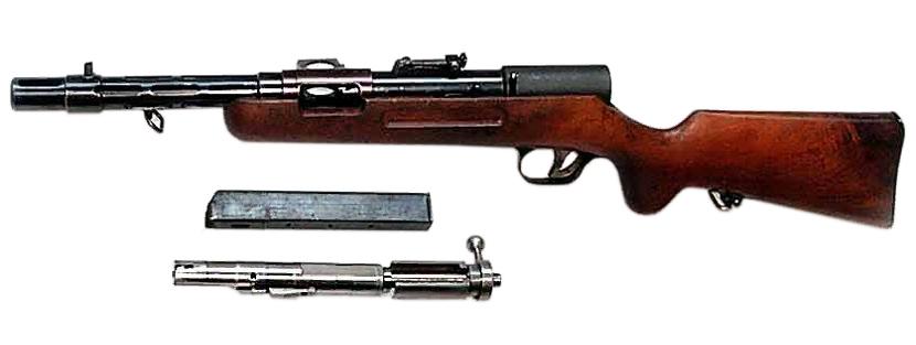Конструкция пистолета-пулемета MP-35