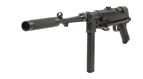 Пистолет-пулемет MP-40 с глушителем