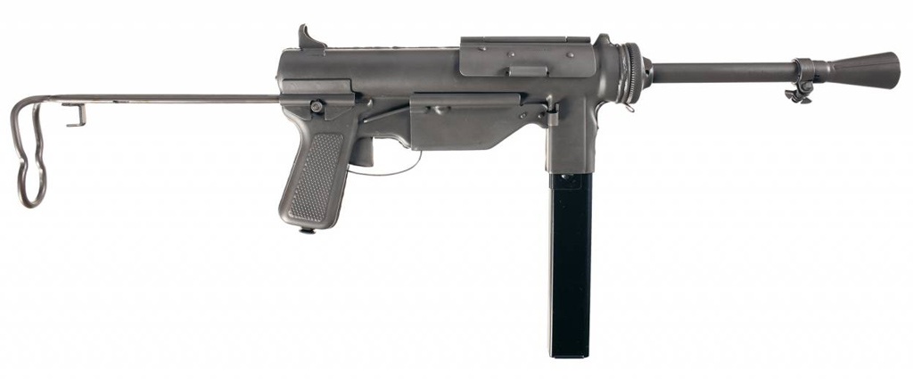 Пистолет-пулемет M3A1 с коническим пламегасителем