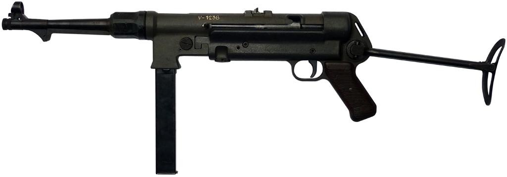 Пистолет-пулемет MP 38 L с разложенным прикладом