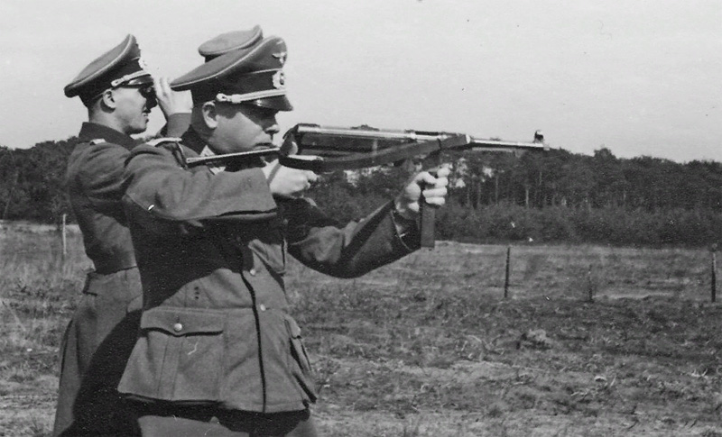 Пистолет-пулемет MP-38 на испытаниях