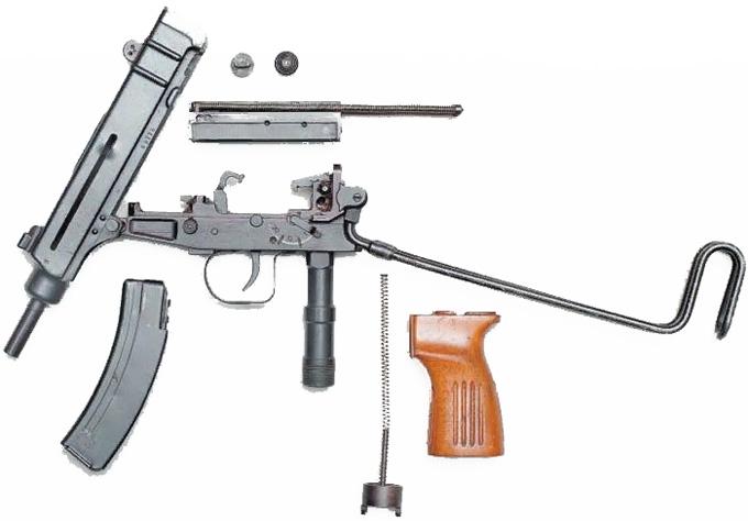 Пистолет-пулемет «Скорпион» Šcorpion vz. 61. Разборка