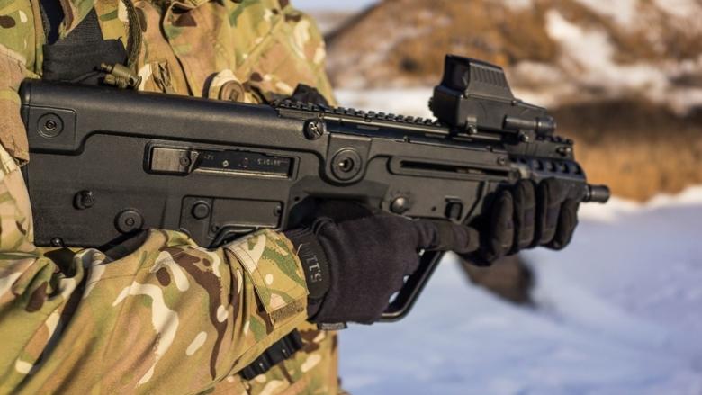 Пистолет-пулемет «Форт-224» у бойца ВСУ