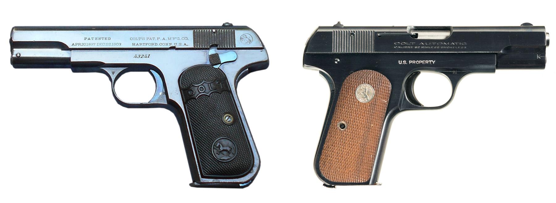 Пистолеты Colt M1903 и M1908