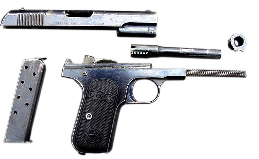 Разборка пистолета Colt M1903