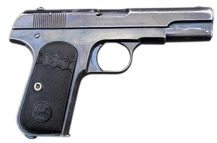 Пистолет Colt M1903 вид справа