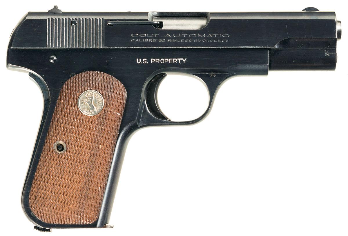 Пистолет Colt M1908 вид справа